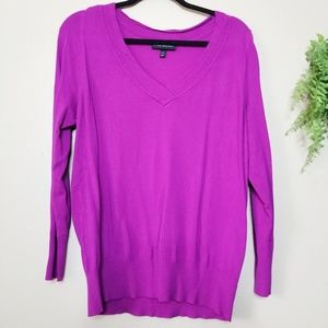 Lane Bryant | Fuchsia V-Neck Pullover Sweater